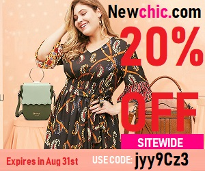 Don't miss Newchic 20% OFF sitewide Use: Code: jyy9Cz3 Expires on: Aug 31st